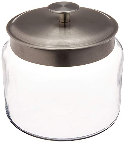 Anchor 77977 Montana Jar with Brushed Aluminum Metal Cover, 64 oz.