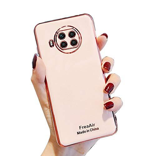 Redmi Note 9Tケース シンプル メッキ なめらか 保護ケース 衝撃吸収 カバー シャオミ リドミーノート9Tソフトケース スマホケース おしゃれ スマホカバー スマートフォン ケース カバー(ピンク)