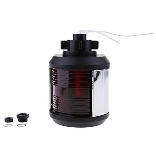 Sharplace LED Bateau Marin Lampe Poupe Lumière Feux de Navigation Étanche Rouge