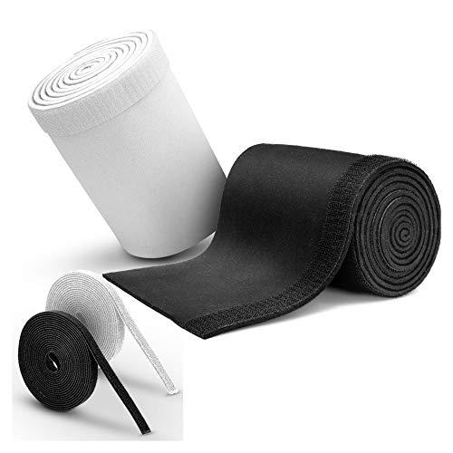 MAKONA® Kabelschlauch aus Neopren (2x1,5m) - mit Klettkabelbinder (2x3m) - für hochwertiges Kabelmanagement oder idealer Kabelschutz - Durchmesser einstellbar