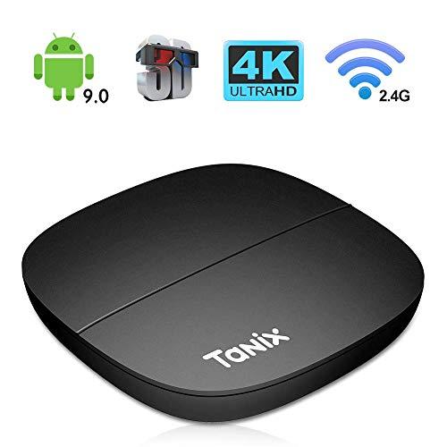 Android 9.0 TV BOX,H2 TV BOX 2GB RAM/16GB ROM Hi3798M Quad-core 64 bits DDR4 Support 2.4Ghz WiFi 4K 3D HDMI2.0 Smart TV BOX