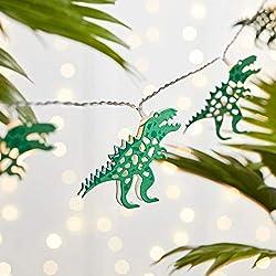7. Lights4fun Inc Battery-operated T-Rex Dinosaur String Lights