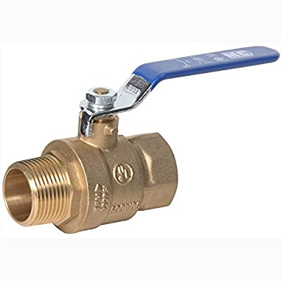 """Midwest Control MBB-100 600 Psi CWP 1"""" Mpt x Fpt Brass Ball Valve from Midwest-Control"""