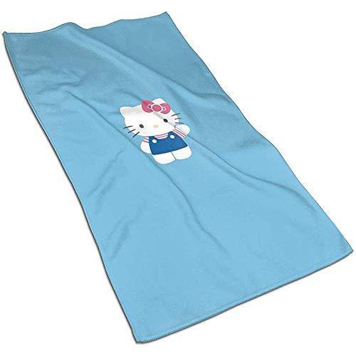 Cooles Hello Kitty Soft Super Absorbent sneldrogende handdoek badhanddoek strandlaken - 27,5 x 17,5 inch