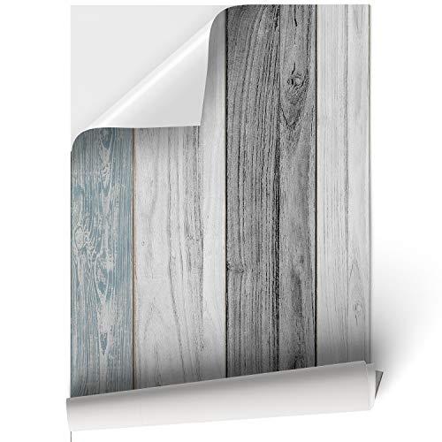 Papel Adhesivo de Madera de Vinilo para Muebles y Pared - Madera Vintage - Vinilo Resistente, Impermeable y Removible, 45x200cm, VNL-002