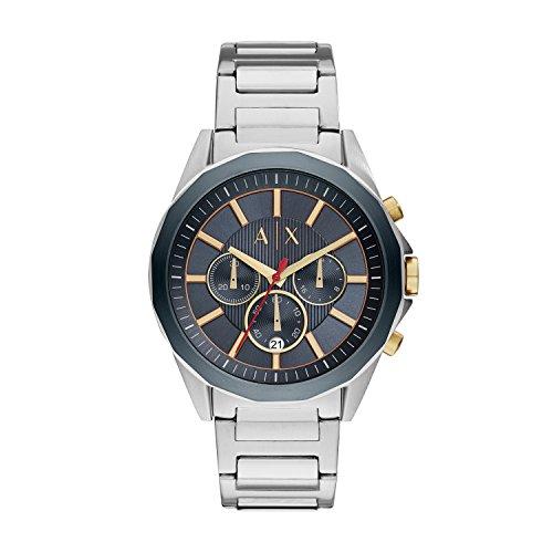 Armani Exchange Herren Analog Quarz Uhr mit Edelstahl Armband AX2614