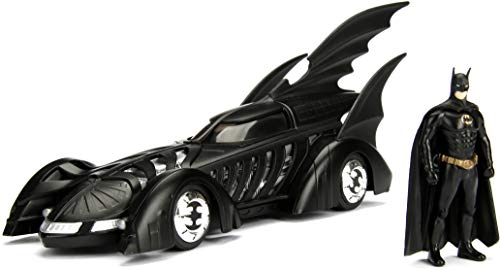 Jada Modelo Batmobile de Batman Forever 22cm Escala 1/24con Figura de Batman–100% Original Oficial DC Comics Toys