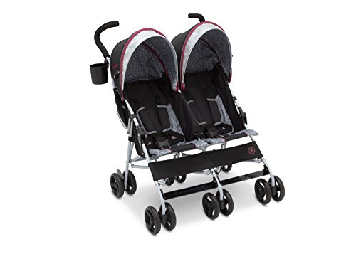 Find Discount Jeep Scout Double Stroller, Lunar Burgundy