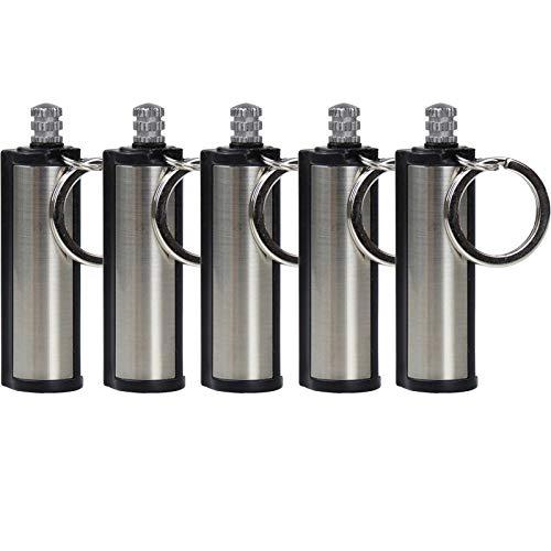 Snakell Lighter Waterproof Flint Match Metal Keychain Camping Survival Kit Survival Streichholz Streichholz Metall Benzin Feuerzeug Schlüsselanhänger Personalisiert Geschenke für Männer