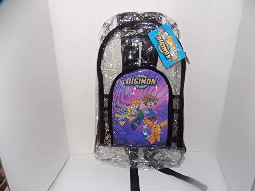 Digital Monster Digimon Rucksack aus Kunststoff, transparent