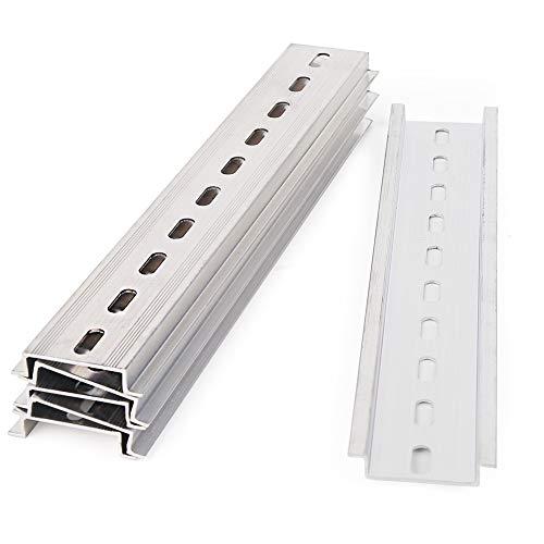 Vegena 3 carriles DIN perforados de montaje para armario de distribución, rieles de montaje empotrados (longitud 200 mm, ancho 35 mm, altura 7,5 mm)