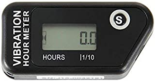 Runleader HM016B Vibration Activated Wireless Digital Hour Meter Hour Meter for Air Compressor Generator Jet ski Lawn Mower Motocycle Marine ATV outboards Chainsaw and Other Small Engines(Black)