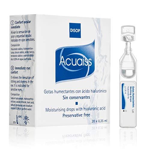 Acuaiss Gotas Humectantes sin Conservantes con Ácido Hialurónico, Lágrima Artificial en Monodosis, 20 x 0,35 ml