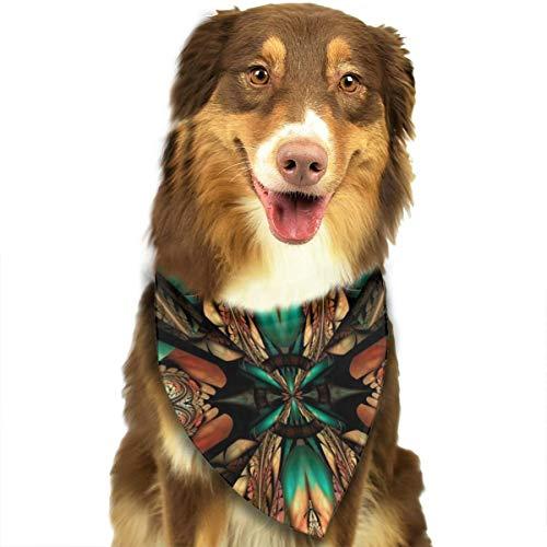 Sitear Kunststof Achtergrond Tegel Reliëf Abstract Kleurrijke Hond Kat Bandana Driehoek Bibs Sjaal Huisdier Kerndoek Set Voor Kleine Tot Grote Hond Katten Aangepast