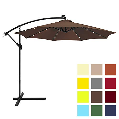 Best Choice Products 10ft Solar LED Umbrella