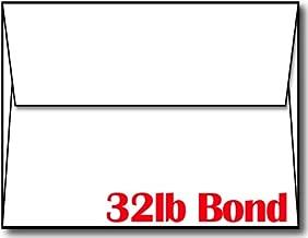 White 32lb Bond Heavyweight A2 Envelopes - 100 Envelopes - Desktop Publishing Supplies™ Brand Envelopes