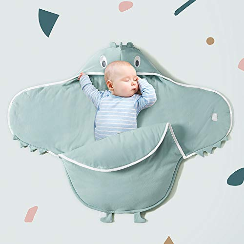 Pasgeboren slaapzak-herfst en winter verdikte katoenen doekjes baby quilt verdikt om warm en kalmeren schokbestendig, winddichte pet, warm en comfortabel Blauw