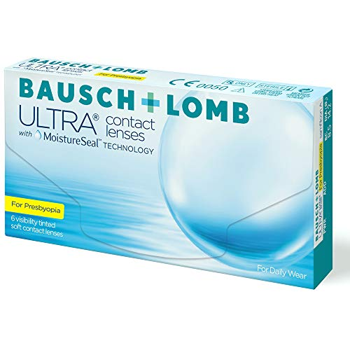 Bausch + Lomb Ultra for Presbyopia Contact lenses with Moistureseal Technology Monatslinsen weich, 6 Stück BC 8.5 mm / DIA 14.2 / -1.75 Dioptrien / ADD High