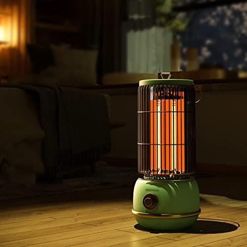 Calefactor Portatil Electrico, Calentador de Espacio Silencioso de 2000 W, Calentador Infrarrojo para el Patio Trasero de una Habitación Grande