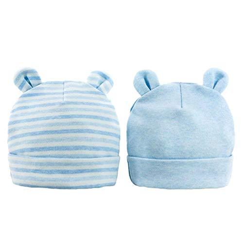2 Stück Baby Mütze Neugeborenen 0-6 Monate Baumwolle Baby Mütze Herbst und Winter Neugeborenes Baby Geschenk Hüte Caps