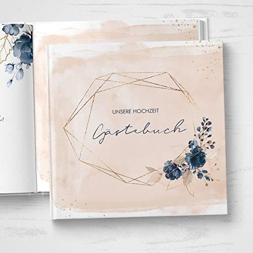 Gästebuch mit Fragen |Watercolor Breeze, rosé - 2