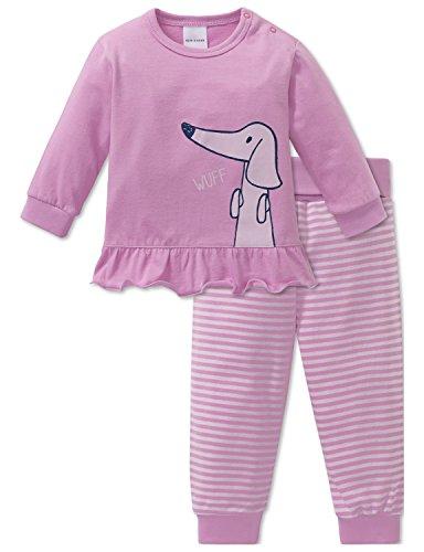 Schiesser Baby-Mädchen Puppy Love Anzug 2-teilig Zweiteiliger Schlafanzug, Rot (Rosa 503), 56