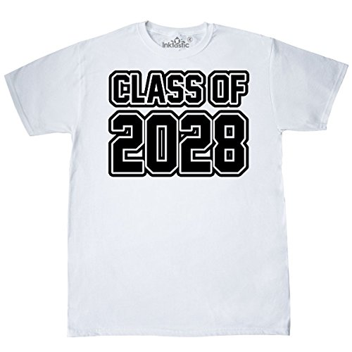 inktastic Class of 2028 T-Shirt Large White 1a6d0