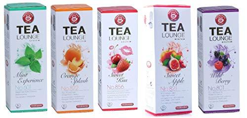 TEEKANNE Tealounge Früchtetee Kapseln, 80 Kapsel - 5 Sorten (5 x 16 Stück) Teekapsel Tee Caps