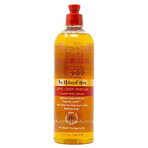 Rince-crème Creme of Nature - vinaigre de cidre de pommes pour cheveux naturels