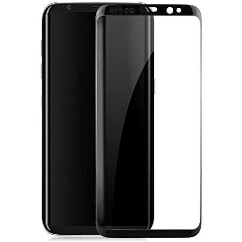 Preisvergleich Produktbild Saxonia Displayschutz Glass kompatibel mit Samsung Galaxy S8 Schutzfolie Vollständige Abdeckung Schwarz