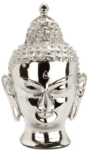 Urns UK Infinity Art Buddha Head Urn, Nickel/Silver