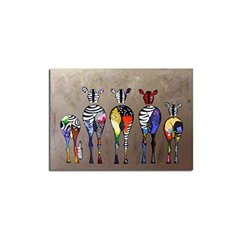 Junecat Cebra Aceite Dibujos Animados Abstracto Colorido de la Pintura de la Pared Decorativos Cuadros Lienzos Sin enmarcada de Dibujo al óleo Impresiones