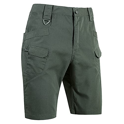 Q&M Hombre Camping Pantalones Cortos Antiincrustante Ligero Shorts Sweatpant Ajuste Senderismo Short