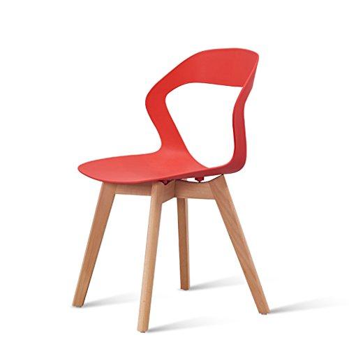 PLL rugleuning stoel Nordic eenvoudige huishouden computer kruk luifel slaapkamer stoel massief houten stoel been geel zwart wit grijs rood