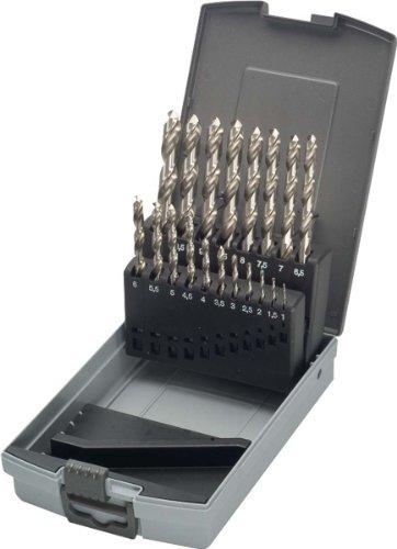 KEIL 302 501 110 Metallbohrersortiment HSS DIN 338 geschliffen, Split Point, 19-teilig  Ø 1,0-10,0 mm um 0,5 mm steigend, in RoseBox