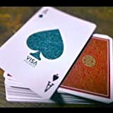 SOLOMAGIA Visa Playing Cards - Red - Kartenzauber - Zaubertricks und Magie -