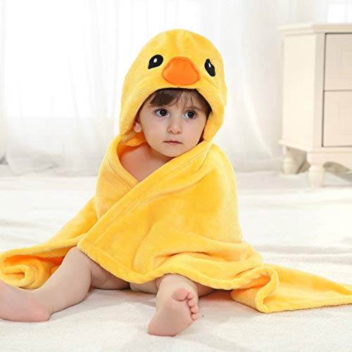 N-B Toalla de bebé Toalla de baño con Capucha para niños Capa de mantón de Terciopelo Manta de bebé de Dibujos Animados Lindo Gorro de Ducha de bebé Toalla de Playa
