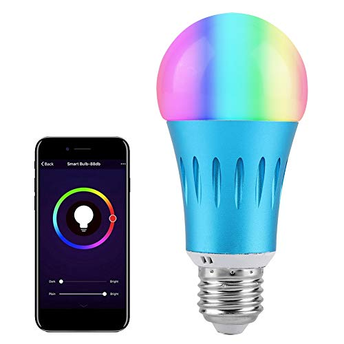 Intelligente LED-lampen, LED-lamp, compatibel met spraakbesturing Alexa Google Home, meerkleurig, stopwatch-functie, E27, E14, B22 (optioneel)