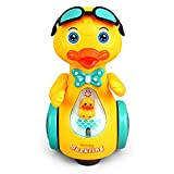 Toddle Bee - 360 Degree Rotating Musical Duckling Toy with Flashing Lights & Bump and Go Action, Activity Play Center Toy for Toddlers (Duckling Toy)