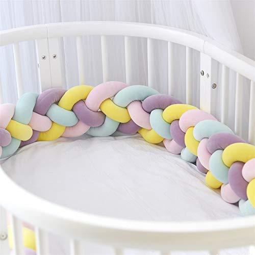 Yunteng Shop Bed Bumpers Baby wieg Bumper Geknoopt Gevlochten Zachte Cot Bumper Vlechtkussen voor wieg kinderkamer