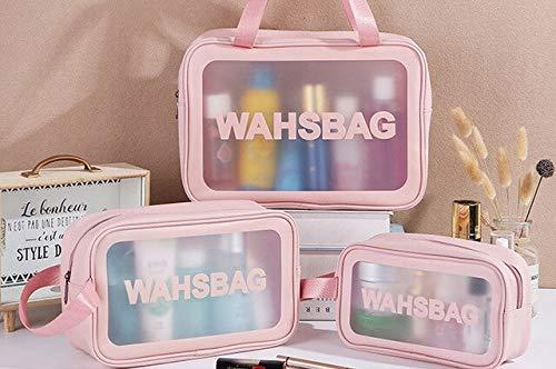 YOLK Bolsa de maquillaje transparente para mujer bolsa de lavado organizador de viaje de gran capacidad cosmética bolsa de almacenamiento de mano transparente bolsas