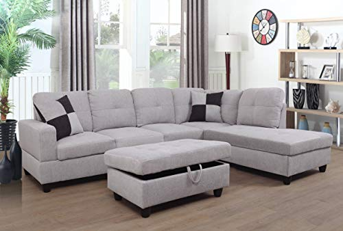 Sectional Sofa Sectional Couch with Chaise Ottoman Sectional Sleeper Sofa (Right Hand Facing)