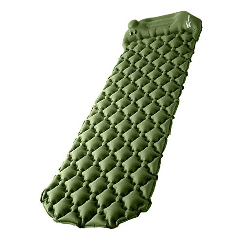 """Camping Sleeping Pad, Upgraded Inflatable Camping Mat with Built-in Pump, 2.5"""" Thick Sleeping Pads, Durable Waterproof Air Mattress Compact Ultralight Hiking Pad for Tent,Travel, Backpacking, Hiking"""