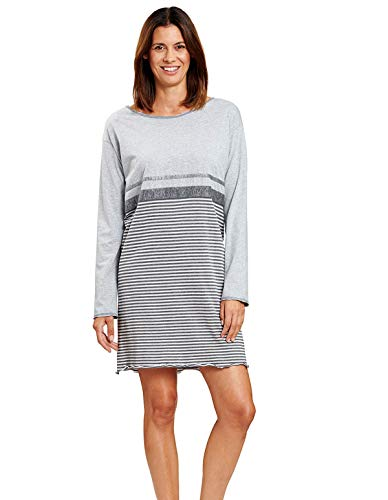 Rösch Damen Bigshirt mit Flächenteilung Shine, Smart Casual - Rock The Stars, 1204092 50 Ringlet Grey