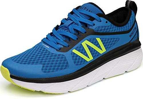 WHITIN Laufschuhe Herren Sportschuhe Straßenlaufschuhe Sneaker Joggingschuhe Turnschuhe Walkingschuhe Fitness Schuhe Gym rutschfeste Outdoor Dämpfung Atmungsaktiv Blau 47 EU