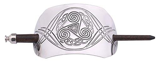 Vintage Retro Triquetra and Triskele Celtic Knot Hair Barrettes Hair Slide for Women (style 1)