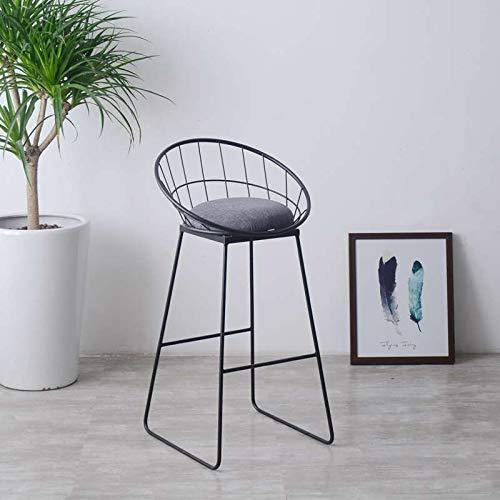 Jinyang Productos de calidad Taburete alto simple Creativo Casual Nordic Ring Cafe bBar Mesa y silla, Tamaño: alto 45 cm (negro mate) Jinyang (Color : Matt Black)