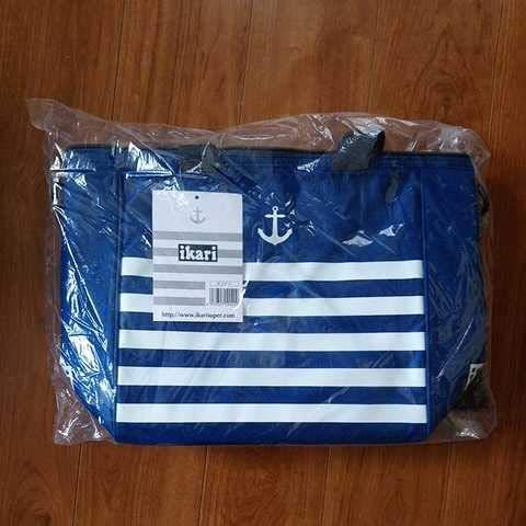 いかりスーパー クーラーバッグ ネイビー色 青 紺 エコバッグ 保冷バッグ イカリ ikari オリジナル