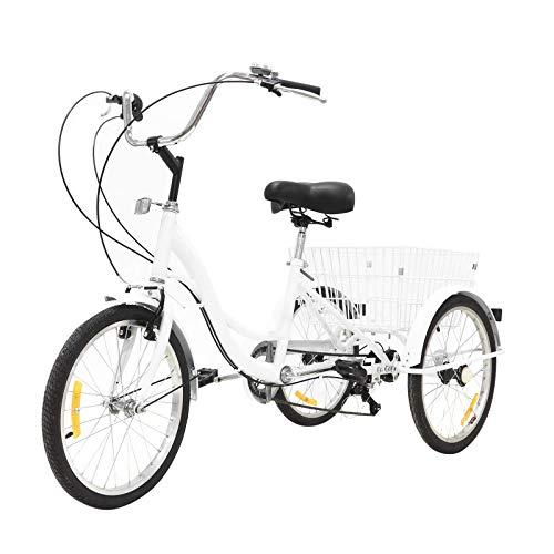 ZSMLB Bicicletas de Carretera para Adultos BikesAdult Triciclo con Marco de Acero   Triciclo Plegable con Cesta Grande para Bicicletas   Triciclo Plegable   Triciclo para Adultos para Mujeres, Hom