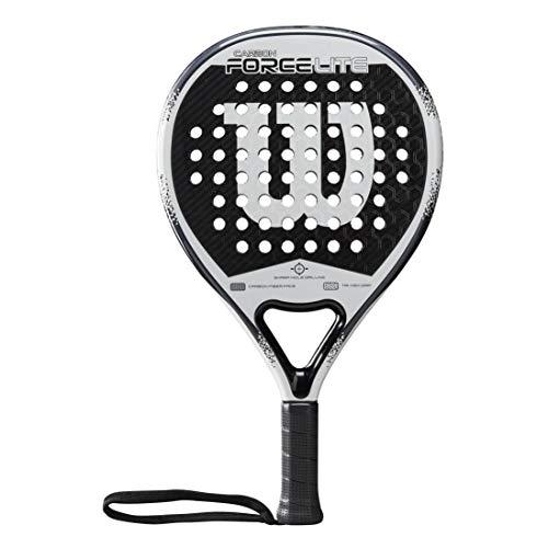 Wilson Carbon Force Lite Pala de pádel, EVA/Núcleo de fibra de carbono, 355 g, apto también para tenis playa, Unisex, Negro/Blanco